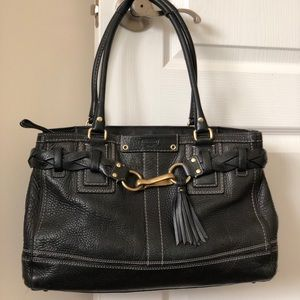 Classic Coach leather black purse